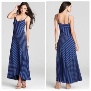 Ella Moss Blue Striped Waldo Boho Maxi Tank Dress